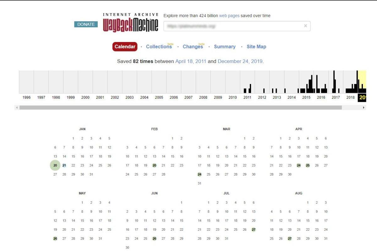 archive.org website backups