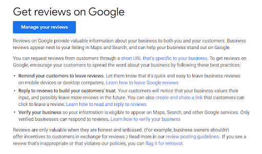 guidlines to get more Google reviews